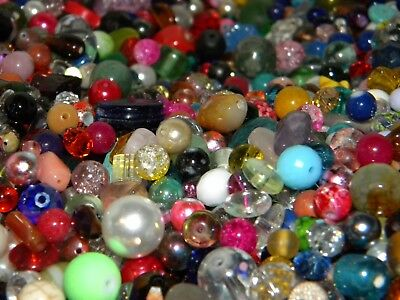 NEW 6/oz Multi-colored GLASS 6-15mm MIXED LOOSE BEADS LOT NO JUNK LOT