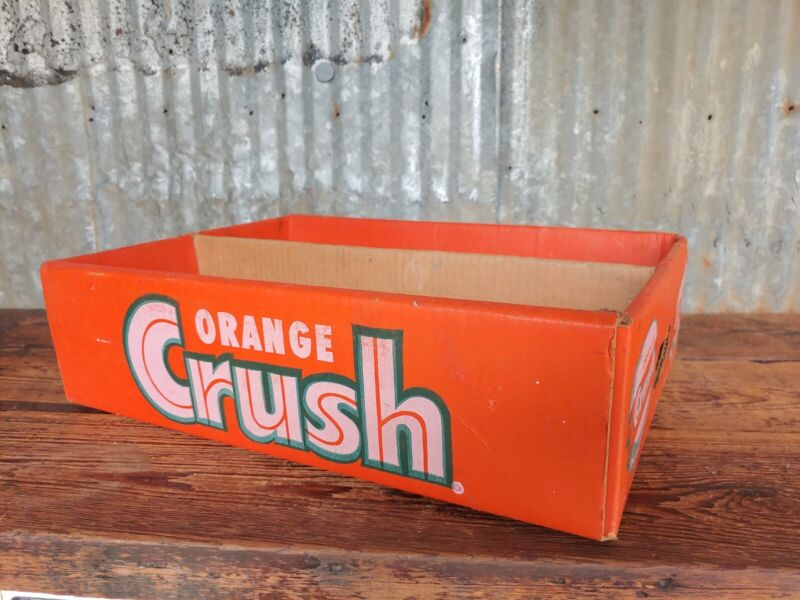 Vintage Orange Crush 24 Pack Cardboard Case Soda Crate Display Sign Not Wood