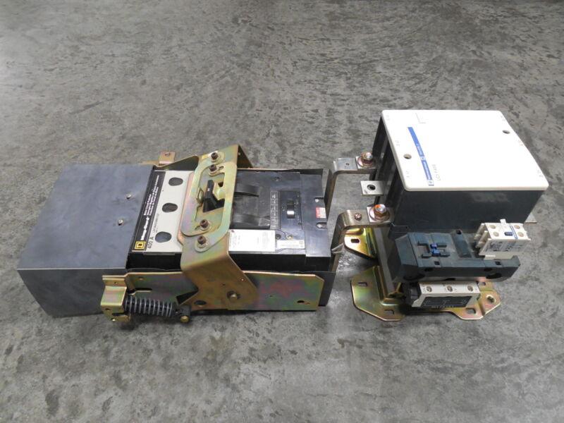 Square D / Telemecanique 400 Amp Breaker / Contactor Assembly LAF3640036MV1027