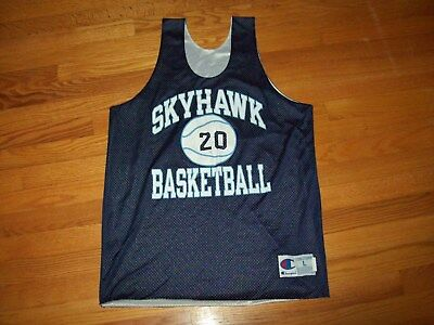 fe762586af2 Vintage Skyhawk LC Bird Virginia High School Champion Basketball Jersey USA  L