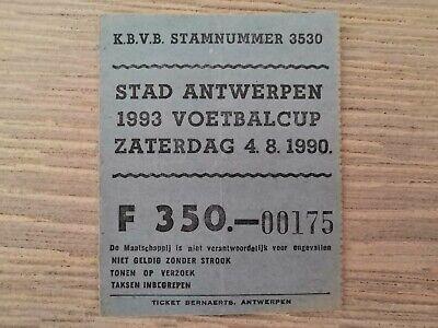 Ticket Metropool Toernooi 1990 Royal Antwerp FC - Germinal Ekeren
