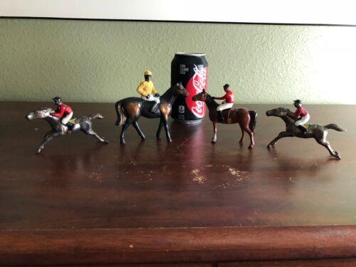 Lot of 4 Vintage Horse Jockey Figurines Figure
