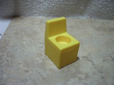 VINTAGE FISHER PRICE LITTLE PEOPLE POOL LIFE GUARD CHAIR YELLOW