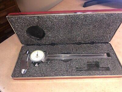 Starrett No. 120 Dial Caliper 0-6 .001 Very Good
