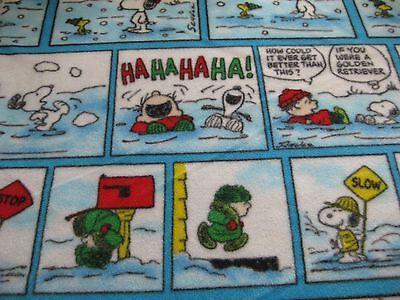 Snoopy Fleece Fabric (Fleece - Snoopy Peanuts Woodstock Winter Comic Christmas Fleece Fabric - 2)