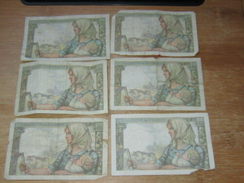Lot of 6 World Paper Money #2570