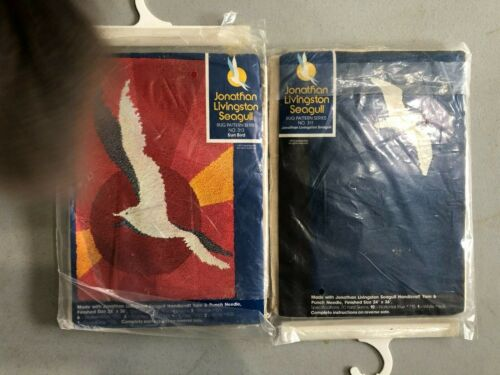 2 Vintage Jonathan Livingston Seagull Rugs #311 & 313