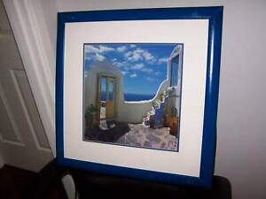 4 Santorini Glass Framed Prints