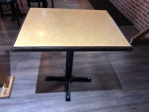Restaurant tables and base 30X24, $30 OBO, 30 tables in total