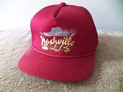 VINTAGE  NASHVILLE BALL CAP/HAT W COWBOY HAT & MUSIC NOTES PLASTIC ADJUST STRAP!](Plastic Cowboy Hats)