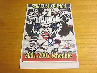 Brad Moran Autographed Signed 8X11 Photograph AHL Hockey Syracuse Crunch