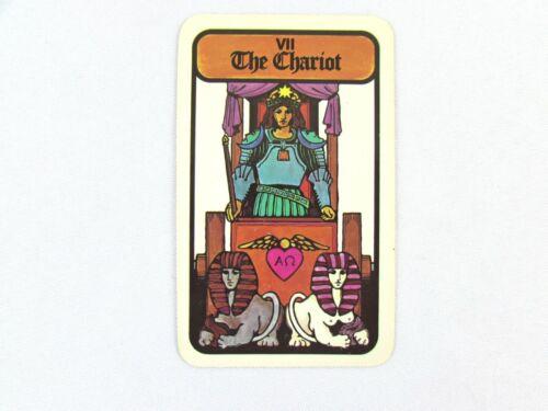 Vintage 1972 Hoi Polloi Tarot *Single Replacement Card* VII The Chariot