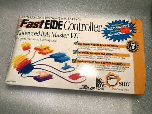 Fast EIDE Controller Master EIDE ISA SIIG CN2419 Vintage Open Box, FREE SHIPPING