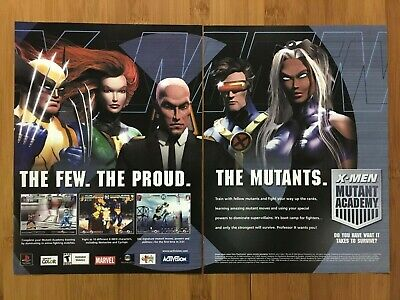 X-Men: Mutant Academy Playstation PS1 2003 Vintage Print Ad/Poster Official Art