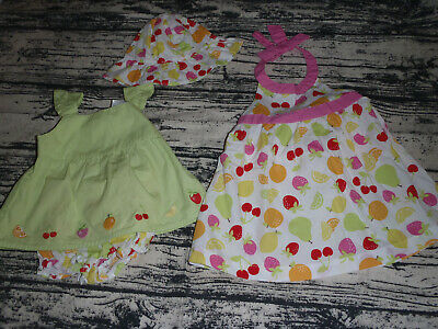 Gymboree Berry Sweet 0-3 Month Hat Dress Diaper Cover Bllomers Top Outfit NWT