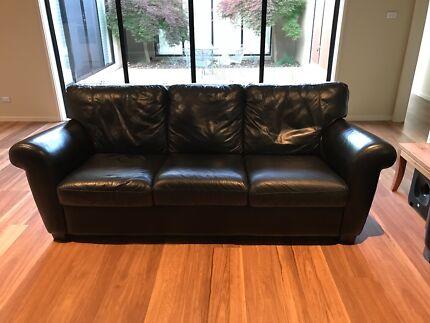 Natuzzi Italian Three Seater Leather Lounge
