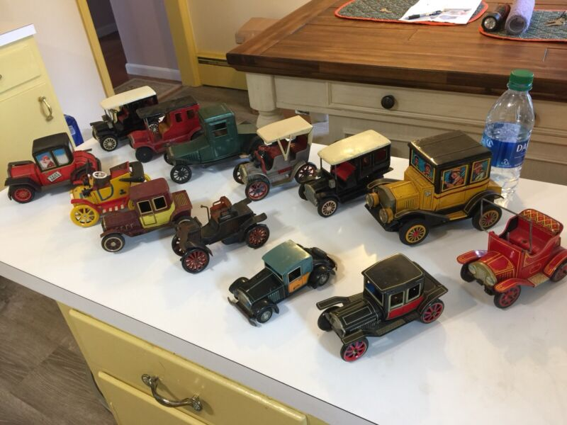 Lot of 13 - MODERN TOYS  Japan Tin Toy Cars