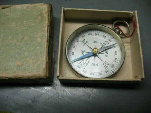 VINTAGE   BRASS   COMPASS  MADE  IN  FRANCE