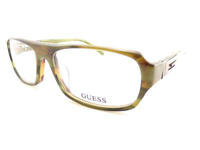 Guess Herren Optisch Gerahmt Brillengestell Grün Horn 55mm GU1747 Ol (Herren Guess Brillengestelle)