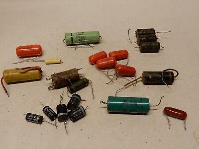 Vintage Capacitor Lot Sprague Orange Drop .2 Uf 200v 4 And Others