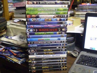 (26) Children's Halloween Spooky DVD Lot: Hotel Transylvania  (4) Monster High