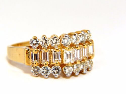 1.40ct diamonds raised cathedral ring 14kt