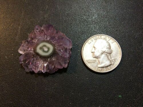 OCL - URUGUAYAN AMETHYST STALACTITE POLISHED SLICE - 1 PIECE  - approx. 36 cts.
