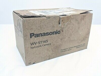 New Panasonic Wv-st165 Indoor Hd Pan-tilting Ip Network Security Dome Camera