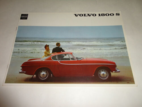 1965-1966 Volvo 1800 S Coupe UK Published Sales Brochure United States Market