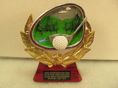 - Golf Award Trophy Free Engraving Rosewood Base Shipped 2 Day Mail Gift Box