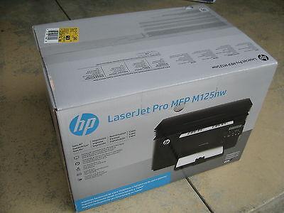Hp B&w Laserjet (Brand New HP Laserjet Pro M125nw Wireless B&W Laser All-in-one Printer Scan Copy)
