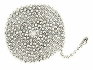 WHOLESALE-LOT-1500-BALL-CHAIN-NECKLACE-2-4mm-24-034-or-30-034-Nickel-Plated-FREE-SHIP