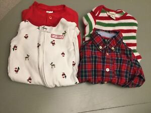 Lot of Christmas outfits - Size 3 months