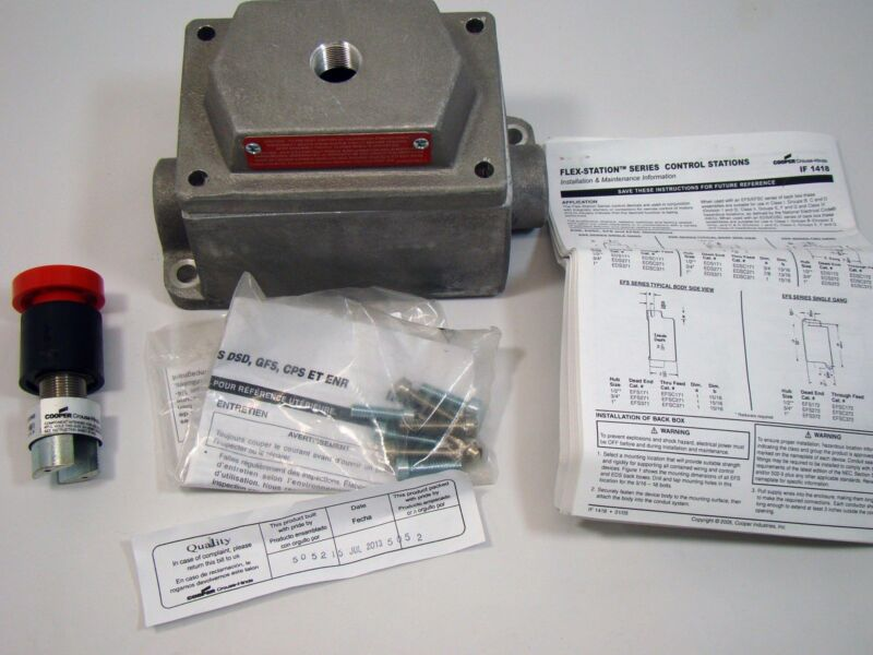 Cooper Crouse-Hinds DEV11 S111 Push Button Assembly Control Station w/enclosure