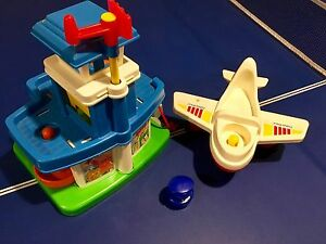Vintage Fisher Price Airport and Plane