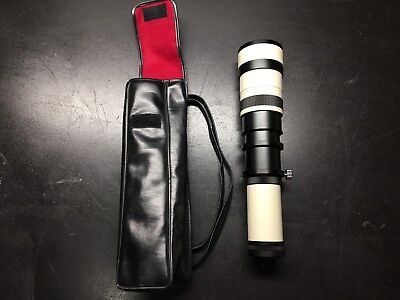 Quantaray 600 - 1000 mm 1:9.9 - 16 Zoom Lens w/Universal Collar & Carrying Case
