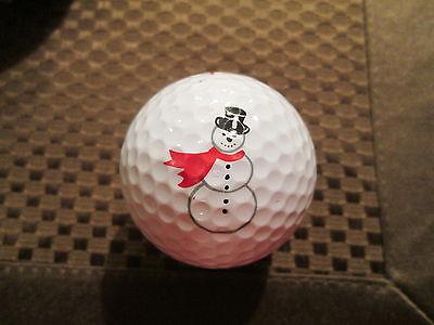 Golf Snowman (LOGO GOLF BALL-SNOWMAN....COLORFUL...BLACK)