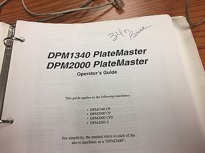 Ab Dick Dpm 2000 Platemaker Operators Guide Dongle Key Computer Stylus
