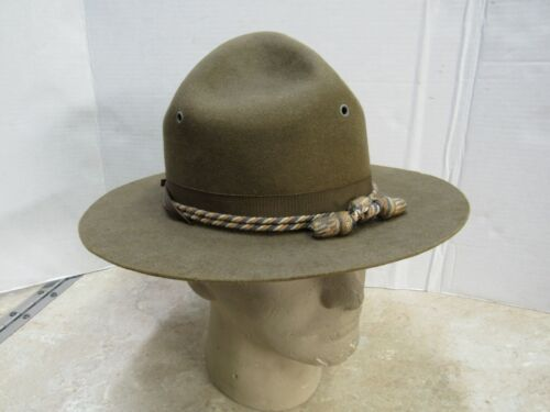 Vintage Montana Peak Campaign Hat W/ Chinstrap & Cord Reserve Officers Training