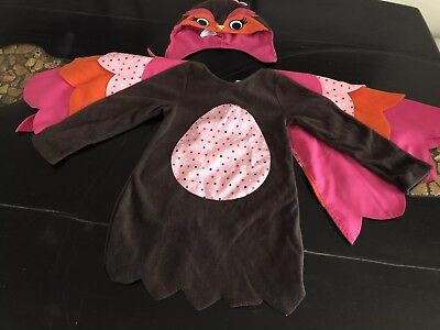 Gymboree Toddler Girls Halloween Costume Cute Owl Size 3T-4T
