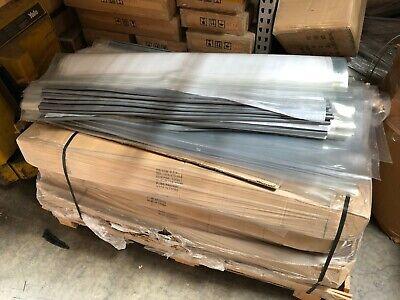 4 X 7 Uncut Curtain Cooler Freezer Strip Door Kit Clear Pvc Restaurant 48x87