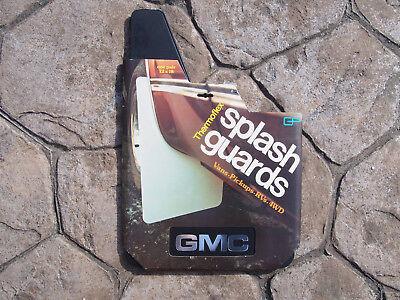 Vintage NOS Solid Black Super Rubber Splash Guards Mud Flaps GP Thermoflex USA