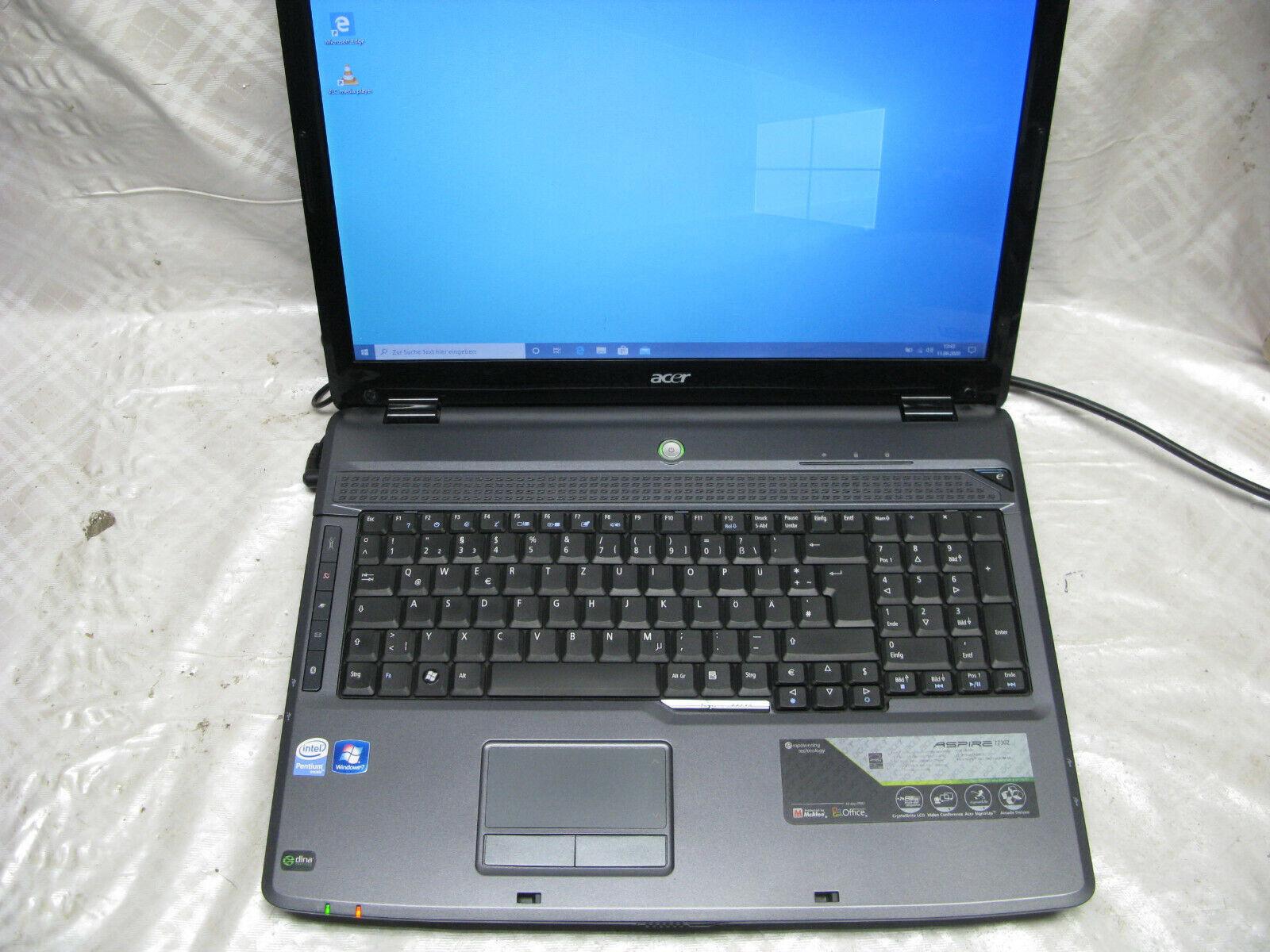 Notebook 17 Zoll Acer Aspire 7730Z Intel Dualcore T4200 2Ghz 4GB RAM WIN10 Pro
