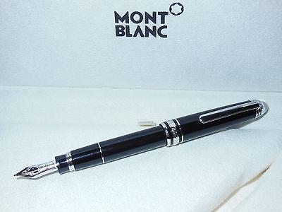 New Montblanc Meisterstuck Diamond Mozart Fountain Pen Blk/Platinum M23878 M Nib