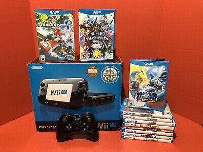 Nintendo Wii U 32GB Console BUNDLE with 11 Games Extra Controller - Black