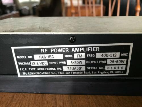 TPL UHF RF Amplifier 70 cm  55 Watts
