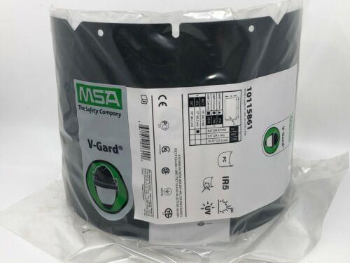 "MSA V-Gard Visor, #10115861, PC, Shade 5 IR, Molded, (8""X17""X .098""), Each"