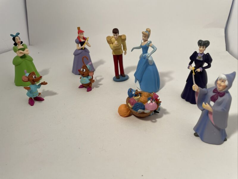 Disney Cinderella Mini Figurine Set of 9