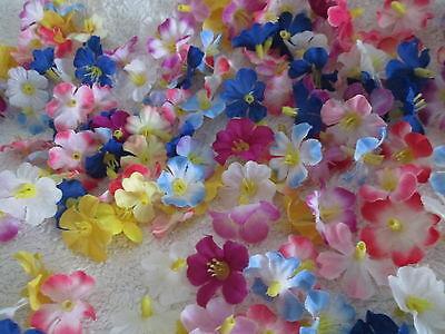100 kleine Dekoblüten Streublüten Künstliche Kunst Blumen Pflanzen Kunstpflanzen