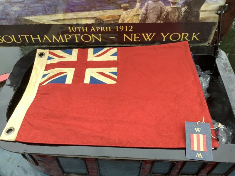 British Red Ensign   Duster End    Nautical Boating Flag 13x19in